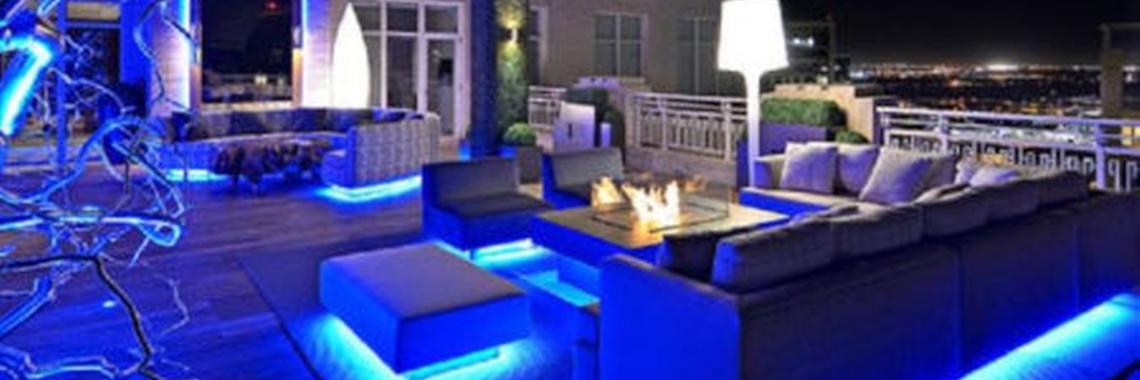 Lounge-blauw