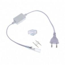 Voedingskabel + einddop voor LED Strip 230V (SMD5050 - 50cm)