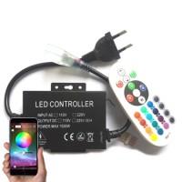 LED Controller - Strip 230V - RGB - IR+App-Bluetooth - 8A - 1500W